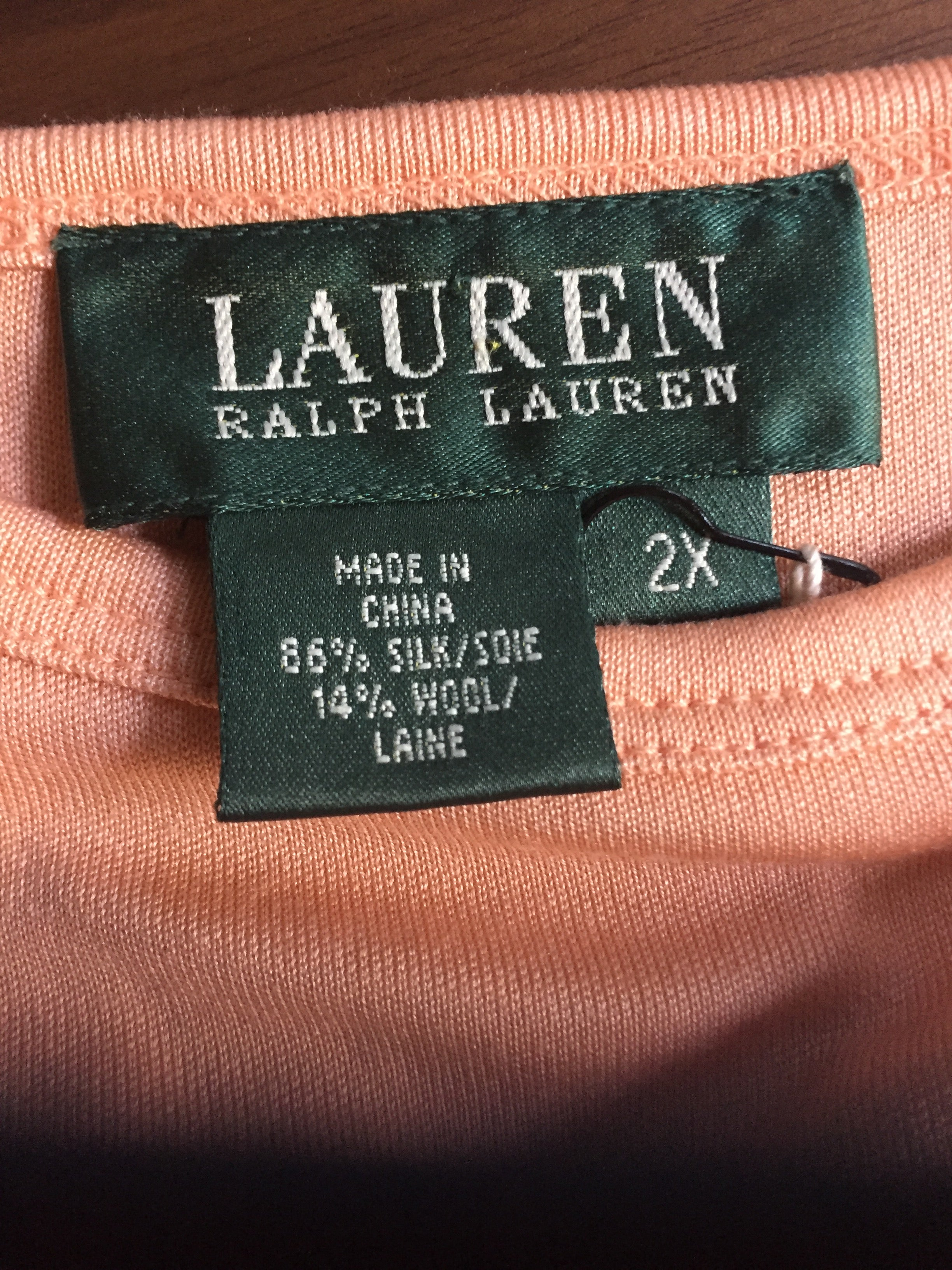 Ralph Lauren Silk T-shirt