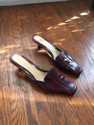 Loafer Mule Kitten Heel