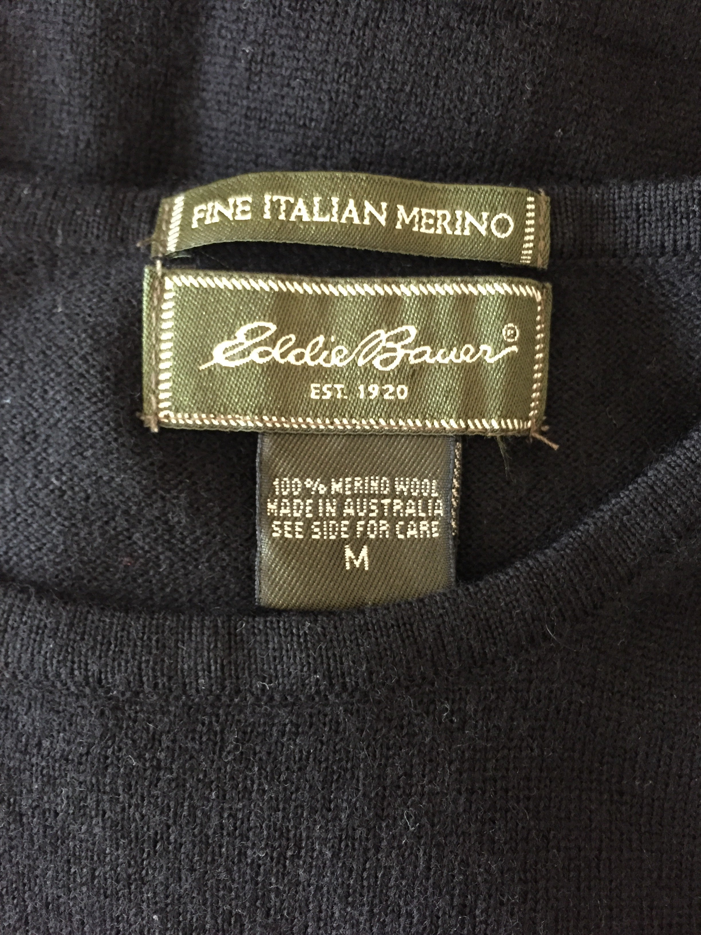 Eddie Bauer Merino Wool knit top