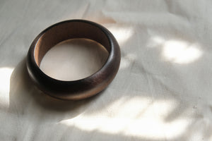 Vintage Dark Wood Bangle