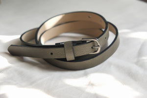 Skinny Faux Leather Moss Belt