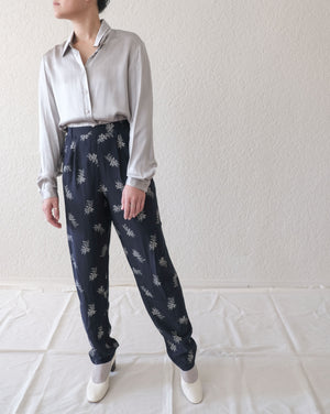 Floral High Waisted Trousers