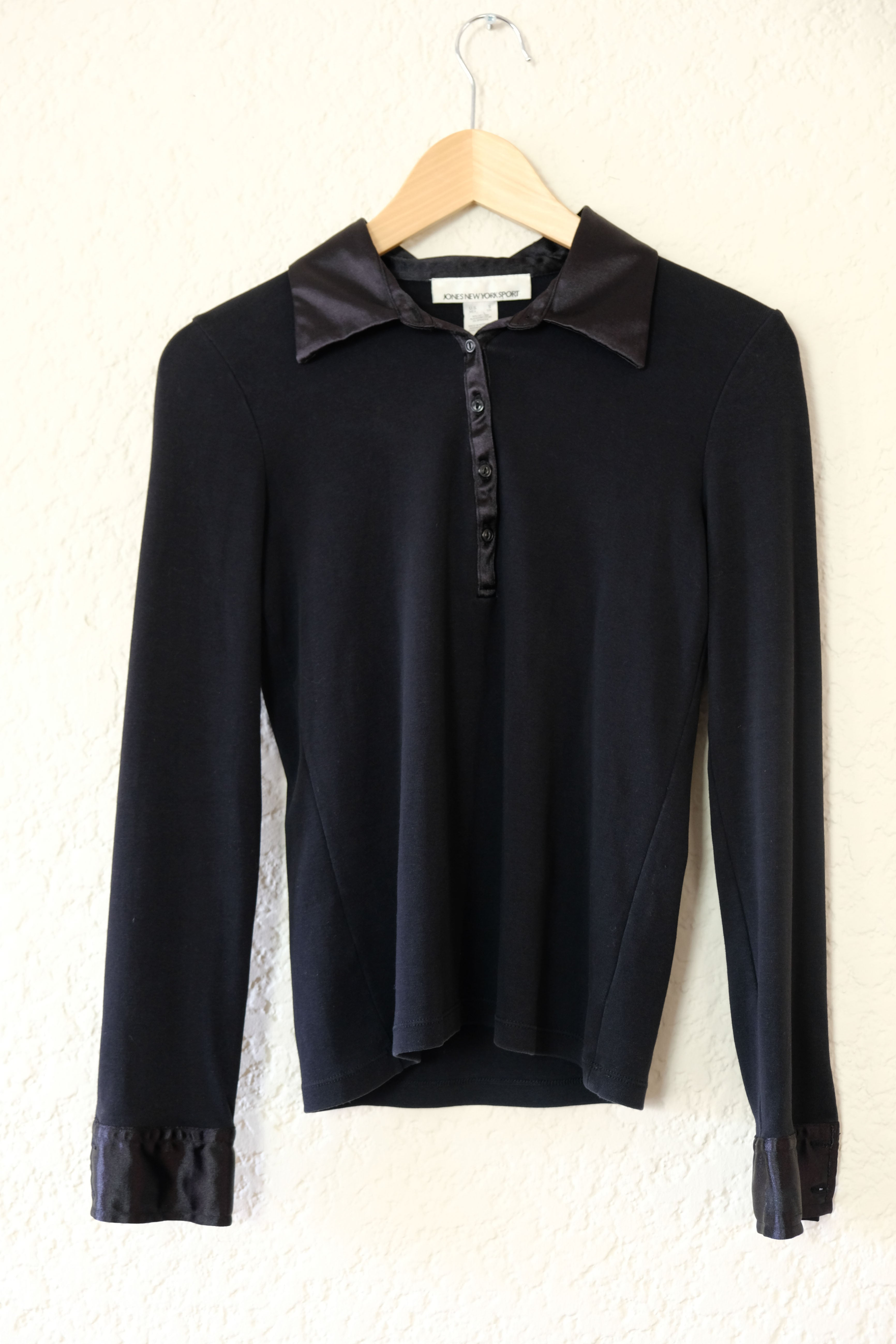 Onyx Collared Henley Top