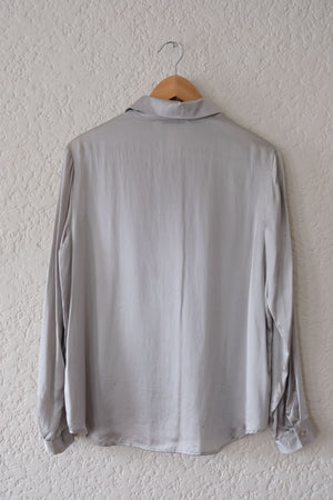 Silver Silk Blouse