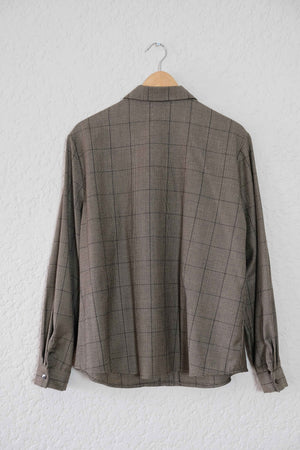 Wool Plaid Overshirt