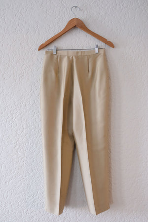 Silk High Waisted Trousers