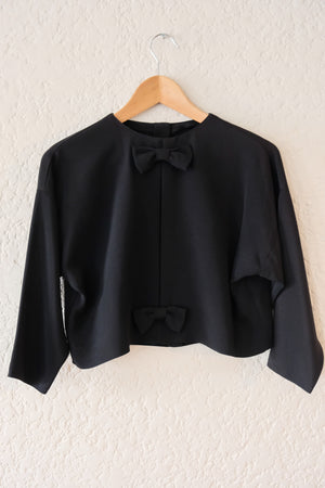 Crop Bow Blouse