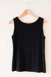 90s Black Stretch Tank