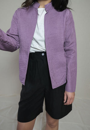 Eileen Fisher Lavender Silk Jacket