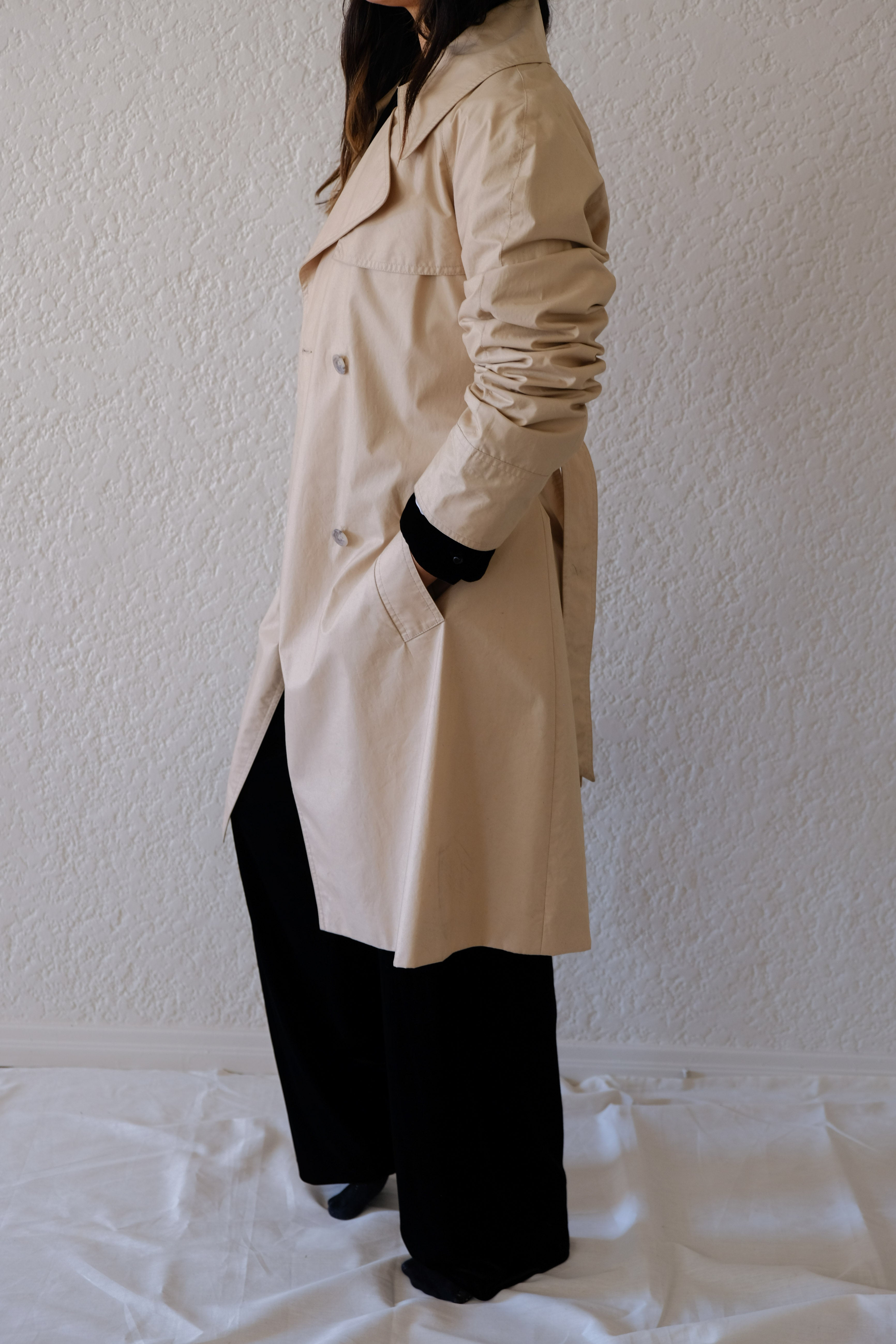 Trench Coat with Satin Lining