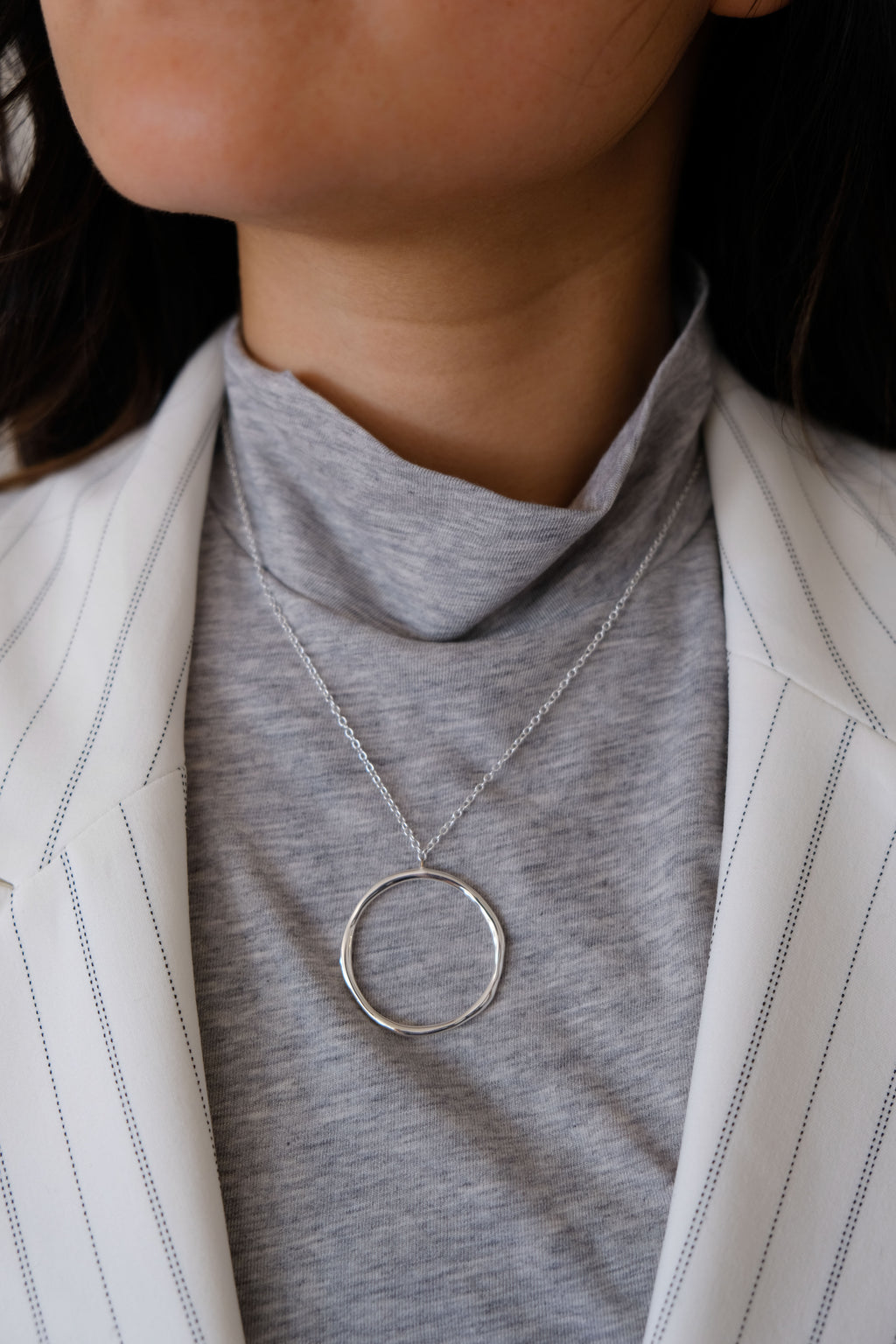 Gorjana Silver Plated Circle Necklace