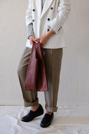 Baggu Molasses Leather Shopper Bag