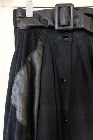 Leather & Suede A Line Skirt