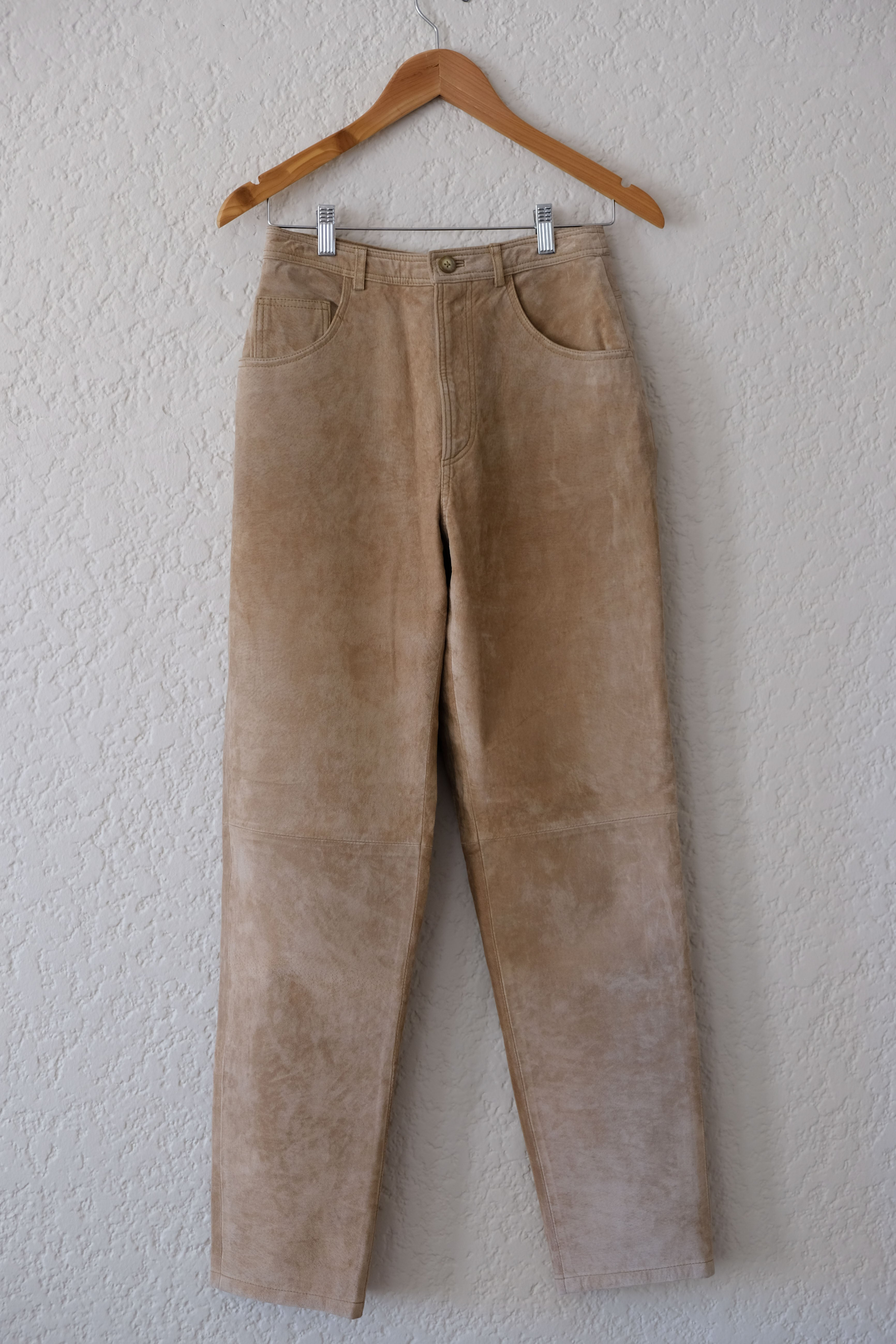 Suede High-Waisted Pants