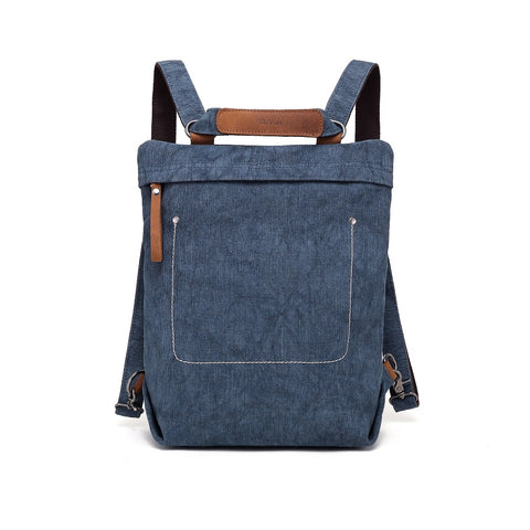 Touring Convertible Backpack in Hand-Dyed Canvas transforms into tote and messenger bag