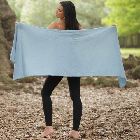 Pang Wangle Essential Wrap with Insect Shield built-in permethrin bug repellent in Faded Denim