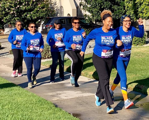Pang Wangle Business Development Director Vanessa Blais walking with GirlTrek in Los Angeles in the fall of 2019