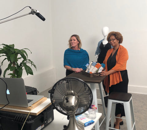 pang wangle founder jennifer john and sales director vanessa trice blais pitch via skype in the qvc hasn big find product search competition