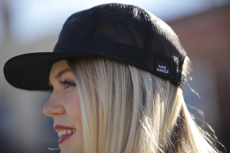 Ava All Mesh Black Trucker