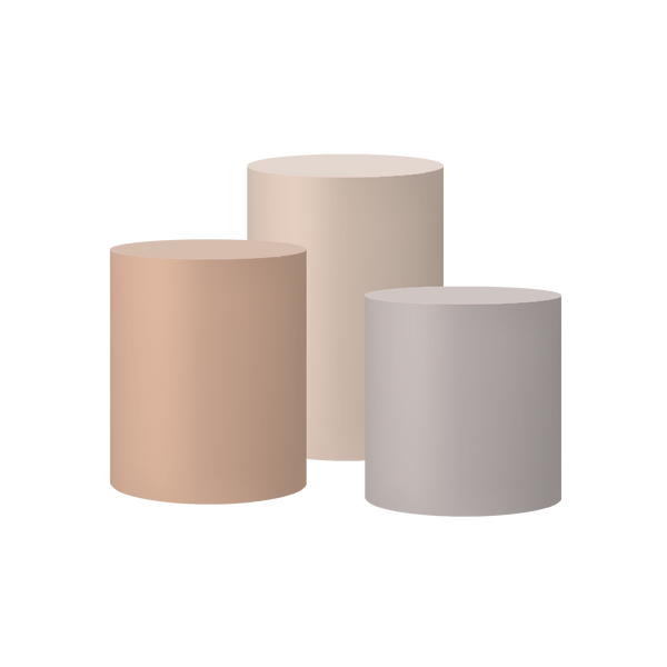 Nudes II Set Of 3 Cylinder Plinths & Covers
