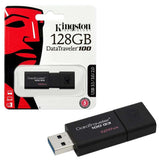 Kingston DataTraveler 100 G3 - USB flashdrive - 128GB