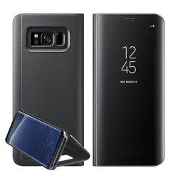 Smart View Spejl Læder flip stand cover galaxy s9