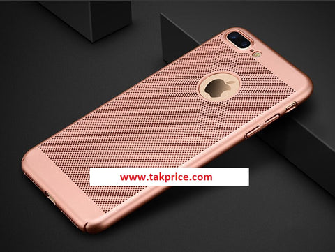 Luksus Ultra Thin Slim PC Mesh Hårdt Etui Cover Apple iPhone 8plus.'RoseGold'