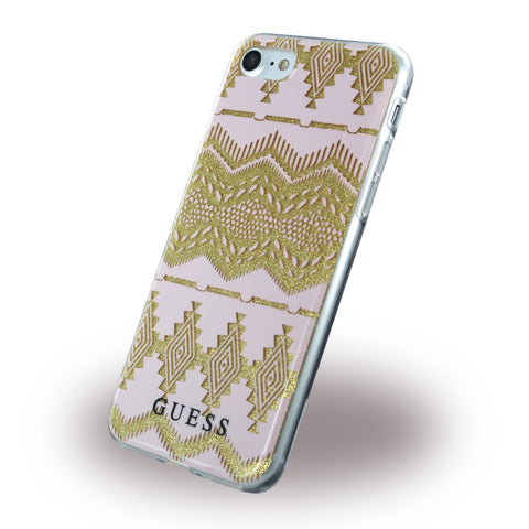 Guess - 3D Effect Aztec Tribal Silikone Cover til Apple iPhone 7, 8
