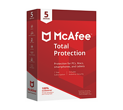 McAfee Total Protection 2019 Antivirus 5 Enheder 1 år