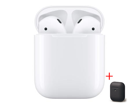 Apple AirPods 2019 med Charging Case  Høretelefoner MV7N2ZM/A+SILIKONE COVER
