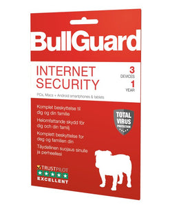 Bullguard Internet Security 2019 3enheder  1år Multi/OS (Elektronisk Levering)