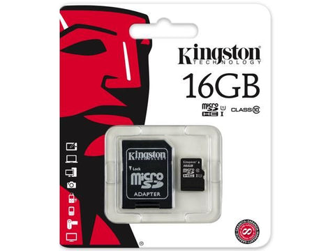 Micro SD 16GB Kingston Class 10 hukommelseskort