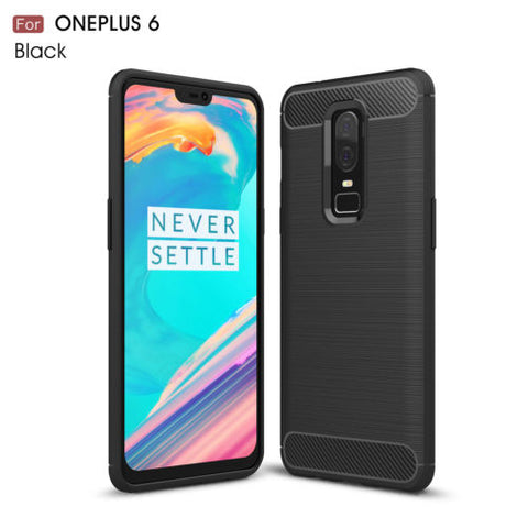 Ny Oneplus 6 ShockProof Luksus TPU Cover Carbon Fiber
