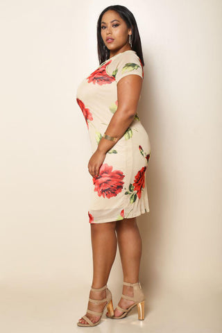 Sweetest Rose Plus Size Dress Fentii Couture