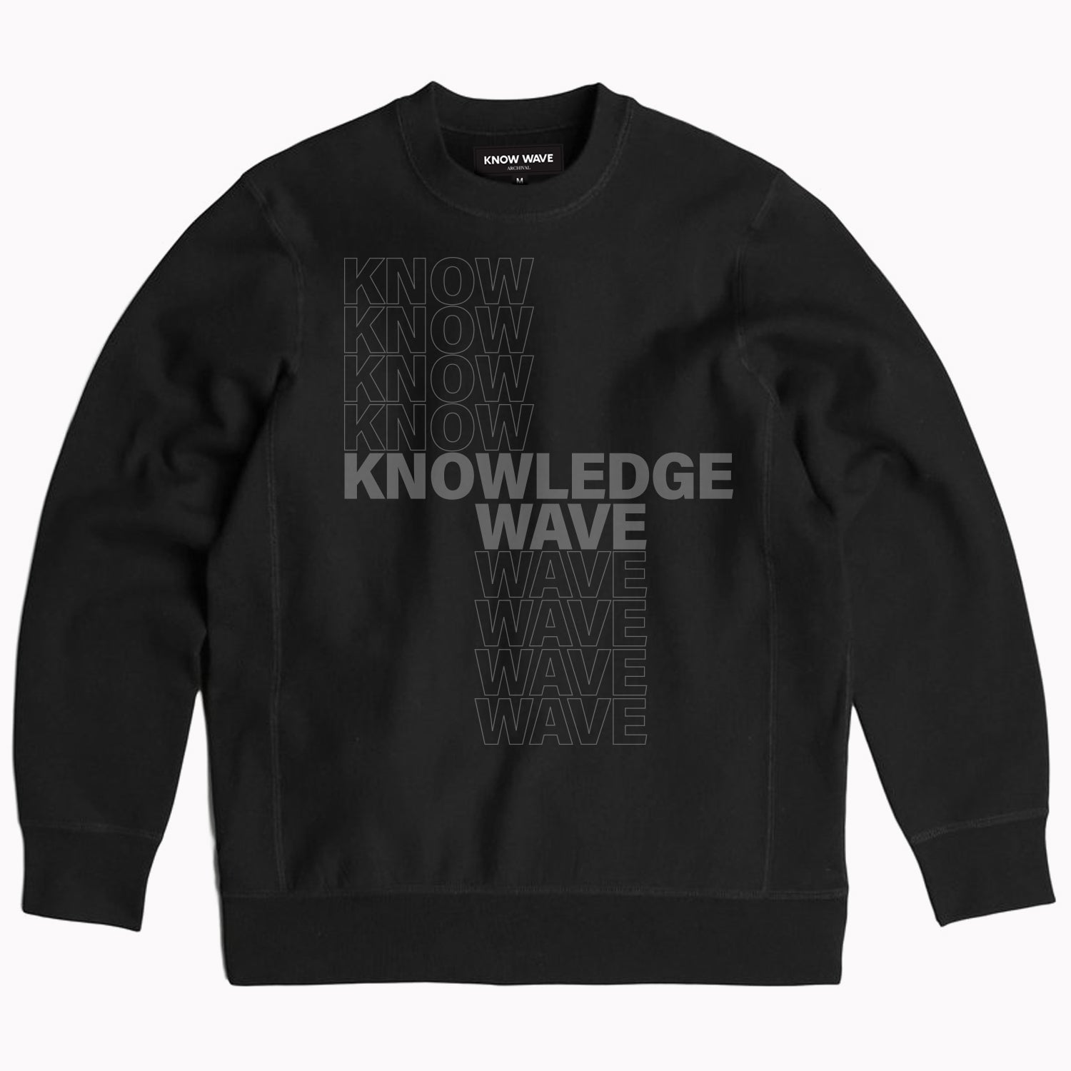 KNOWLEDGE WAVE CREWNECK