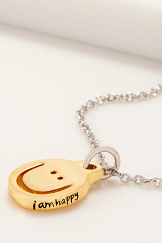 Happy Initial Dangle Necklace