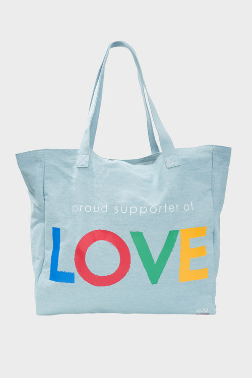 oversized denim tote