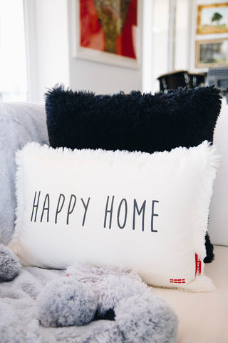 shag decorative pillows with affirmations