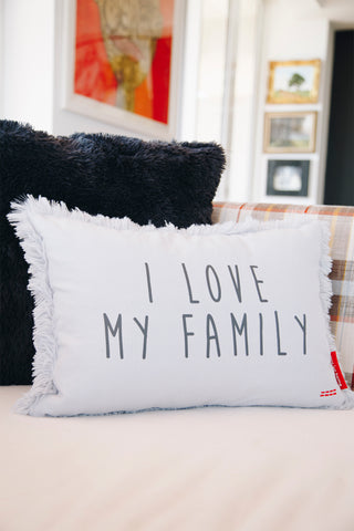 "Set of 2 20"" Printed Holiday Pillows with Pom-Poms"
