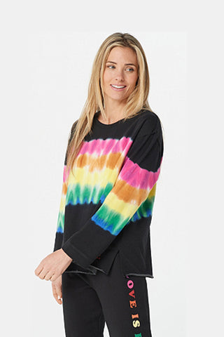 Rainbow Tie Dye French Terry Sweatshirt