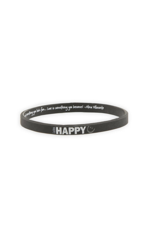 I am Happy Thin Silicone Bracelet