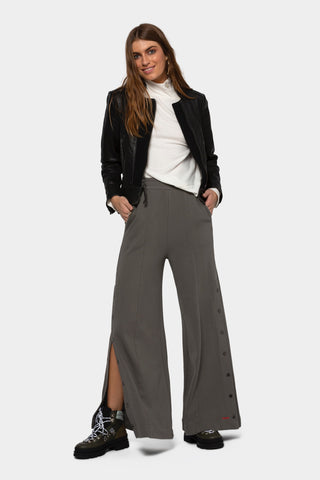 Print and Solid Monica Pant