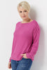 Comfy Top with Ruched Sleeve Detail