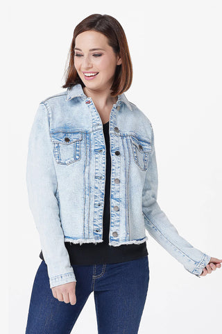 Denim Jacket with Affirmation