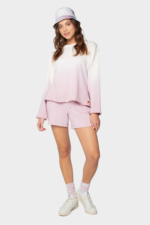 dip dye long sleeve top