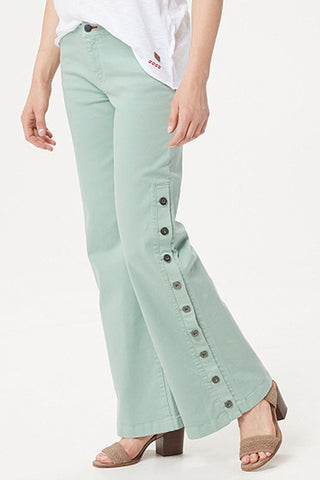 Petite Garment Dyed Side Button Jean