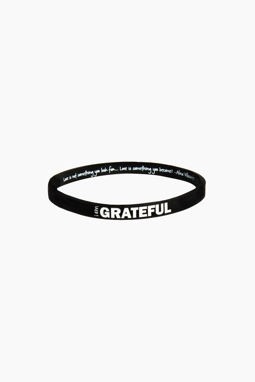 I am Grateful Thin Silicone Bracelet