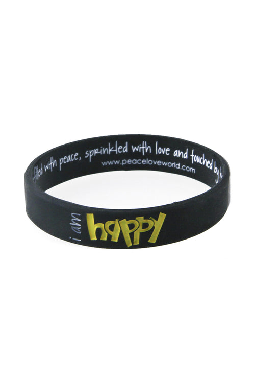 i am happy silicone bracelet