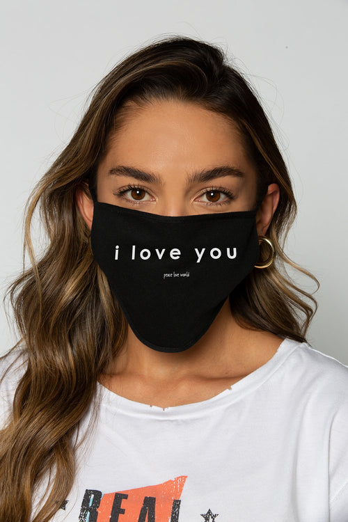 i love you - protective mask