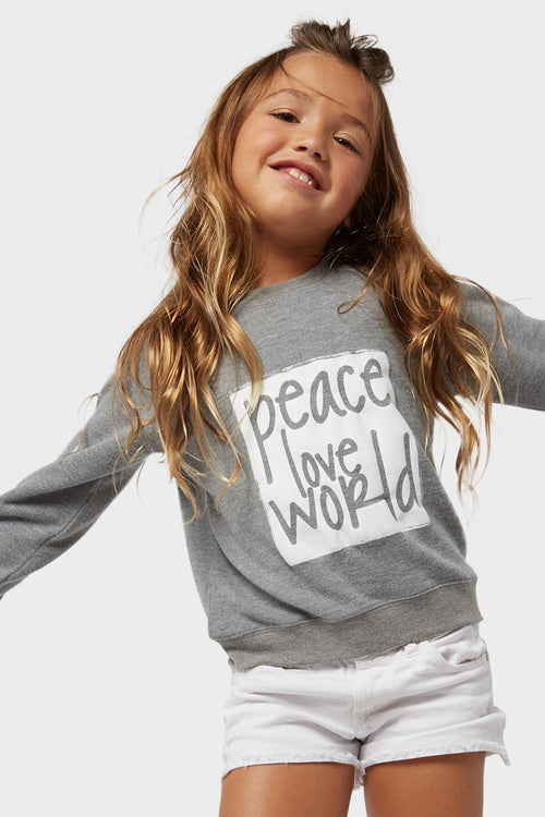 peace love world comfy top